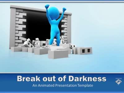 Break Out of Darkness PowerPoint Template