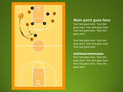Basketball Playbook  A Powerpoint Template From PresentermediaCom