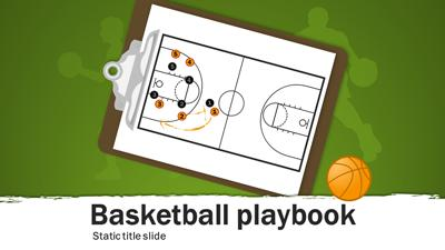 ID# 15655 - Basketball Playbook - PowerPoint Template