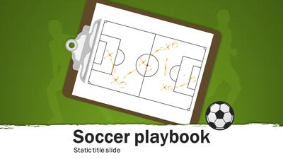 ID# 15660 - Soccer Playbook - PowerPoint Template