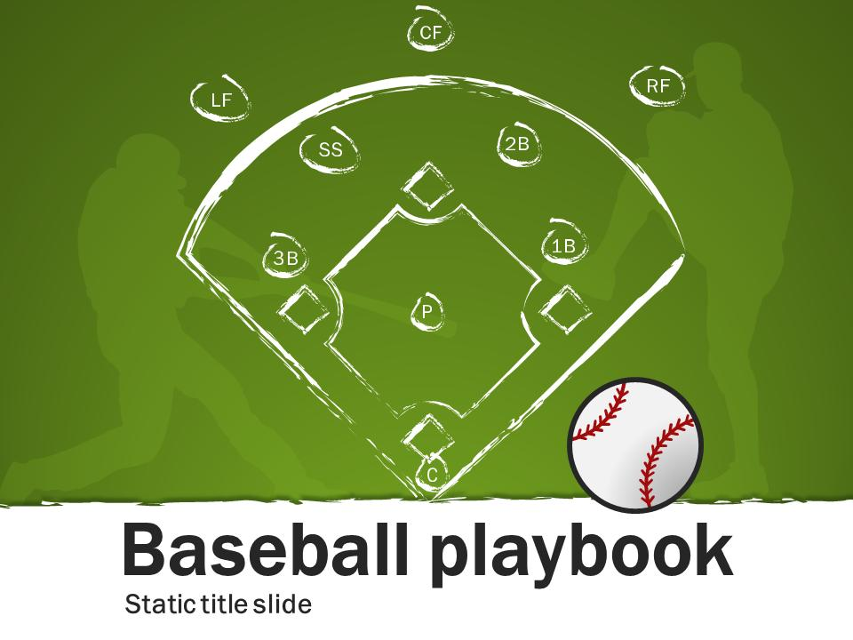 baseball playbook - a powerpoint template from presentermedia, Powerpoint templates