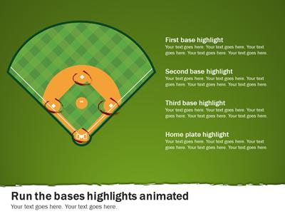 Baseball Playbook  A Powerpoint Template From PresentermediaCom