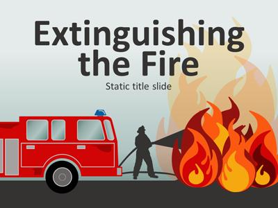 Extinguishing the fire a powerpoint template from presentermedia home powerpoint templates toneelgroepblik Images