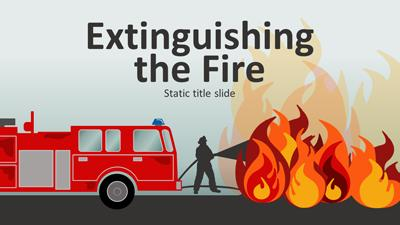 Extinguishing The Fire A Powerpoint Template From