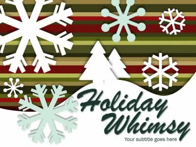 ID# 15923 - Holiday Whimsy - PowerPoint Template