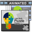 ID# 16038 Light Bulb Puzzle Pieces PowerPoint Template