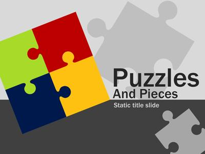 Puzzles and pieces a powerpoint template from presentermedia home powerpoint templates toneelgroepblik Choice Image