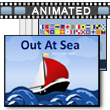 ID# 16296 Out At Sea PowerPoint Template