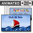 ID# 16297 - Out At Sea - PowerPoint Template
