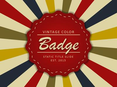 vintage color badge - a powerpoint template from presentermedia, Powerpoint templates