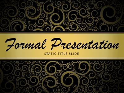 Formal presentation a powerpoint template from presentermedia home powerpoint templates toneelgroepblik Images