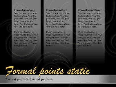 formal presentation - a powerpoint template from presentermedia, Powerpoint templates