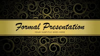 ID# 16363 - Formal Presentation - PowerPoint Template