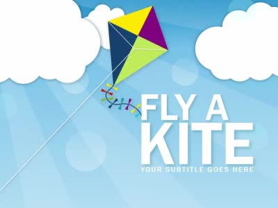 Fly A Kite  A Powerpoint Template From PresentermediaCom