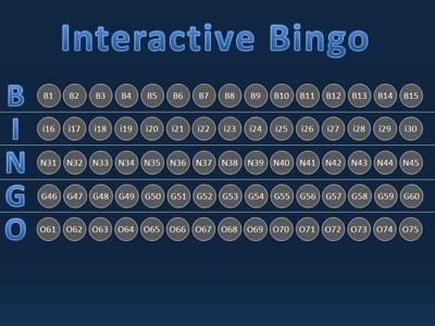 bingo interactive - a powerpoint template from presentermedia, Modern powerpoint