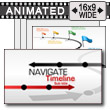 ID# 16517 - Navigate Timeline - PowerPoint Template