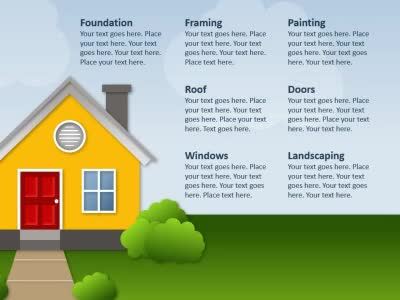 Building a house a powerpoint template from presentermedia home powerpoint templates toneelgroepblik Choice Image