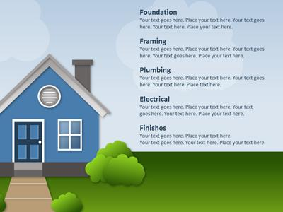 building a house - a powerpoint template from presentermedia, Modern powerpoint