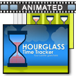 ID# 16705 Hourglass Time Tracker PowerPoint Template