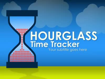 ID# 16705 - Hourglass Time Tracker - PowerPoint Template
