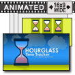 ID# 16706 - Hourglass Time Tracker - PowerPoint Template