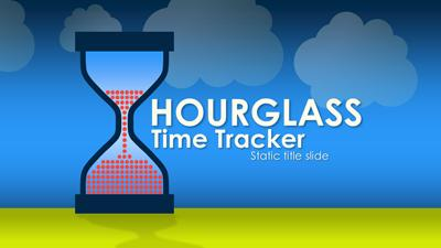 hourglass time tracker - a powerpoint template from presentermedia, Modern powerpoint