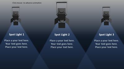 in the spotlight - a powerpoint template from presentermedia, Modern powerpoint