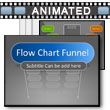 ID# 17223 Flow Chart Funnel PowerPoint Template