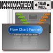 ID# 17225 - Flow Chart Funnel - PowerPoint Template