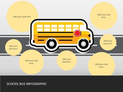 School bus infographics a powerpoint template from presentermedia id17266 standard template school bus infographics toneelgroepblik Gallery