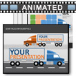 ID# 17275 Semi Truck Infographics PowerPoint Template