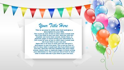 party time balloons - a powerpoint template from presentermedia, Modern powerpoint