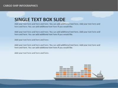Cargo ship infographics a powerpoint template from presentermedia home powerpoint templates toneelgroepblik Gallery