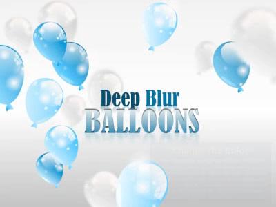 ID# 17291 - Deep Blur Balloons - PowerPoint Template