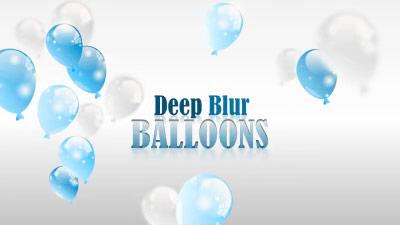 ID# 17292 - Deep Blur Balloons - PowerPoint Template