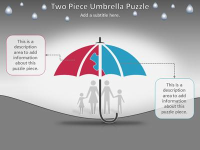 Umbrella puzzle protection a powerpoint template from home powerpoint templates toneelgroepblik Choice Image