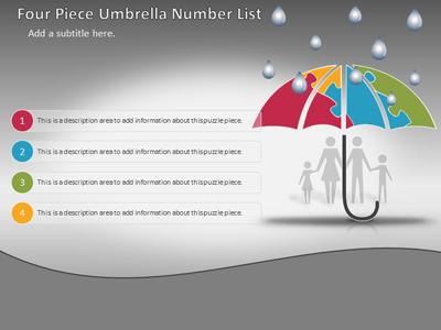 Umbrella puzzle protection a powerpoint template from home powerpoint templates toneelgroepblik Image collections