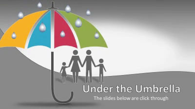 ID# 17473 - Umbrella Puzzle Protection - PowerPoint Template