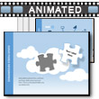 ID# 17632 Cloud Puzzles PowerPoint Template