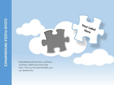 ID# 17632 - Cloud Puzzles - PowerPoint Template