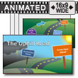 ID# 17717 - The Uphill Road - PowerPoint Template