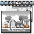 ID# 17769 The Business Strip PowerPoint Template