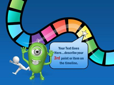 Your timeline game a powerpoint template from presentermedia toneelgroepblik Choice Image