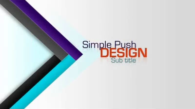 ID# 17887 - Simple Push Design - PowerPoint Template