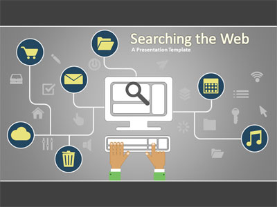 ID# 17891 - Searching The Web - PowerPoint Template
