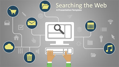 ID# 17892 - Searching The Web - PowerPoint Template