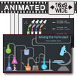 ID# 18148 - Mixing The Formulas Chemistry - PowerPoint Template
