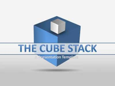 ID# 18158 - Cube Stacks - PowerPoint Template