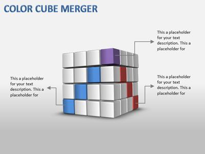 cube stacks - a powerpoint template from presentermedia, Modern powerpoint