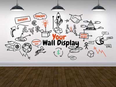 ID# 18185 - Your Wall Display - PowerPoint Template